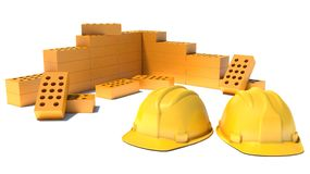 Construction and building industry concept Stock Photos