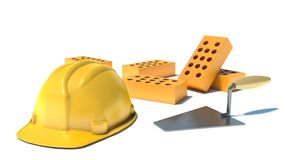 Construction and building industry concept Royalty Free Stock Images