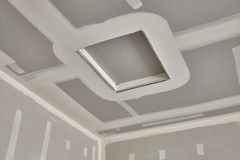 Construction building industry drywall taping interior attic acc Royalty Free Stock Photo