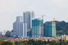 Construction Building. Building and Construction Building in Malaysia Stock Image
