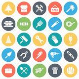Construction and Building Minimal Icon Set Royalty Free Stock Images