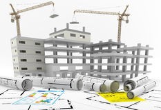 Construction of a building. Real Estate. Repair and Renovation. Construction of a building. Following energy efficiency protocols Stock Photography