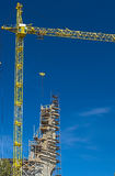 Construction Building Site With Crane. HDR Image Royalty Free Stock Photo
