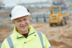 Construction building site foreman Royalty Free Stock Image