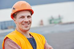 Construction building site foreman stock photo