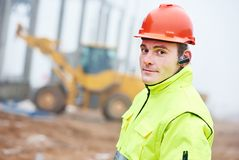 Construction building site foreman royalty free stock photos