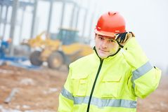 Construction building site foreman royalty free stock photo