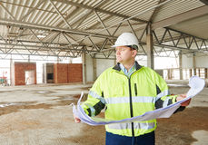 Construction building site foreman Stock Image