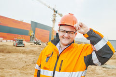 Construction building site foreman royalty free stock images
