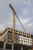 Construction Building Site With Industrial Crane Stock Image