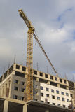 Construction Building Site With Industrial Mid-Size Crane. Royalty Free Stock Image