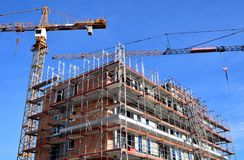 Construction, Building, Sky, Crane stock photography