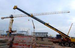 Construction of building in Sofia, Bulgaria on Nov 24, 2014 Stock Photos