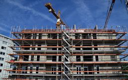Construction, Building, Structure, Condominium royalty free stock photos