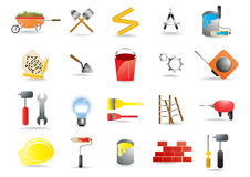 Construction and building tools Stock Photography