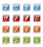 Construction and Building Tools icons Royalty Free Stock Photography