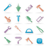 Construction and Building Tools icons Stock Images