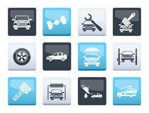 Construction and Building Tools icons over color background. Vector Icon Set royalty free illustration
