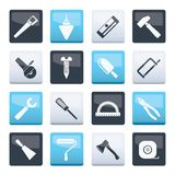 Construction and Building Tools icons over color background. Vector Icon Set vector illustration