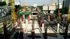 Construction a building in urban,Bangkok Thailand. Bangkok, Thailand - January 20,2017 : Construction a building in urban,Bangkok Thailand stock video footage