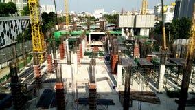 Construction a building in urban,Bangkok Thailand. Bangkok, Thailand - January 20,2017 : Construction a building in urban,Bangkok Thailand stock footage