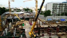 Construction a building in urban. Bangkok, Thailand - September 08,2016 : Construction a building in urban stock video