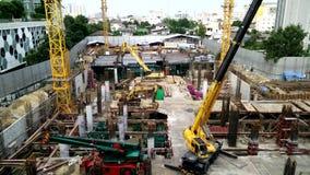 Construction a building in urban,Bangkok Thailand. Bangkok, Thailand - September 08,2016 : Construction a building in urban,Bangkok Thailand stock video