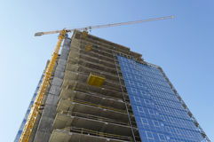 Construction of building Stock Photo