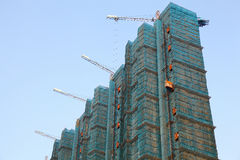 Construction Of Buildings Royalty Free Stock Photo