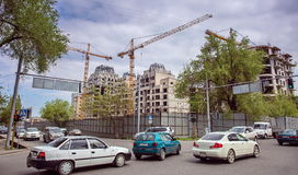 Construction of buildings . Stock Photo