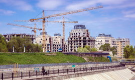 Construction of buildings . Royalty Free Stock Images