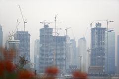 Construction Of Buildings In Dubai Stock Photography