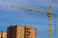 Construction of buildings. Russia. Kaluga city royalty free stock images