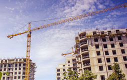Construction of buildings Stock Image