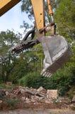 Construction bulldozer. Close up of a construction bulldozer claw Royalty Free Stock Photography