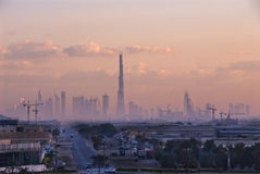 Construction of the Burj Dubai Royalty Free Stock Images