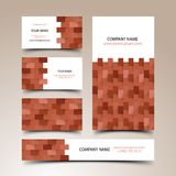 Construction business card set Royalty Free Stock Images