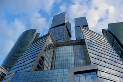 Construction of business center Moscow-City. Moscow City is by far the largest construction project investment in real estate not only in Moscow but in Russia Stock Photo