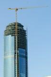 Construction of business center Vysotsky building Stock Image