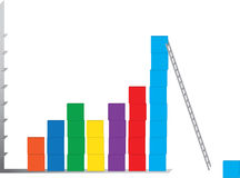 Construction of business charts. Illustration of construction of business charts. Concept of how to grow up in business vector illustration
