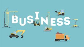 Construction business concept. royalty free illustration