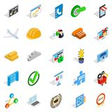 Construction business icons set, isometric style. Construction business icons set. Isometric set of 25 construction business vector icons for web isolated on Stock Photos