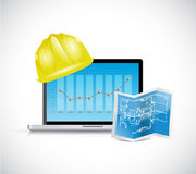 Construction business illustration design. Over a white background Stock Images