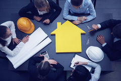 Construction business meeting Stock Photography