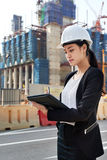 Construction business woman Royalty Free Stock Photos