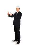 Construction businessman showing ok sign Stock Images