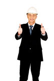 Construction businessman showing ok sign Royalty Free Stock Image