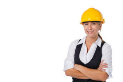 Construction businesswoman Royalty Free Stock Image