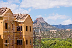 Construction and Butte Royalty Free Stock Images