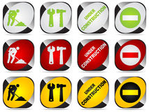Construction buttons Stock Image